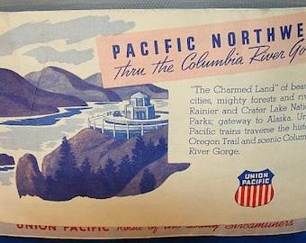 1950 UNION PACIFIC RAILROAD Ticket - Railway Stub and Envelope - Original Train Ticket - Great Railroad Memorabilia