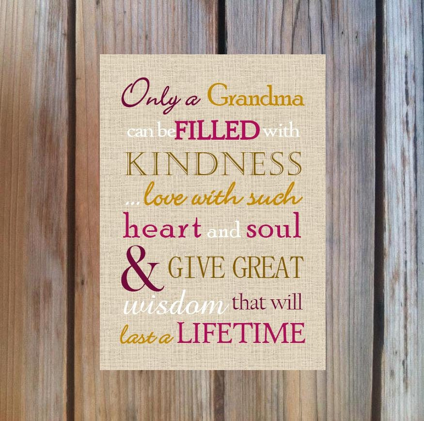 Grandma Gift. Print And Pop Into Any Frame. DIY Instant