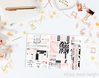 Rosé TN POCKET Weekly Kit // 100+ Matte Planner Stickers // Perfect for your Pocket or Personal Traveler's Notebook // TNP0140