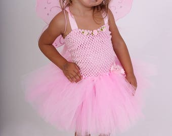 Tutu dress, fairy costume, pink, costume with wings