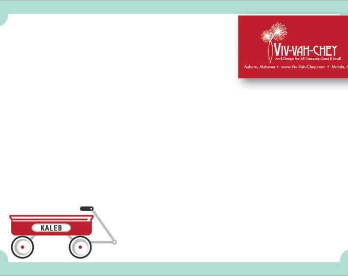Little Red Wagon   Personalized Children's Stationery
