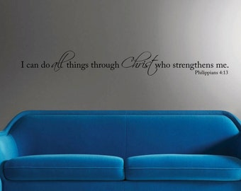 I can do all things through Christ Philippians 4:13 scripture verse vinyl wall art decal