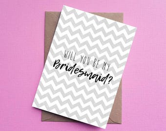 Will you be my Bridesmaid Card, Wedding card, Bridesmaid Card
