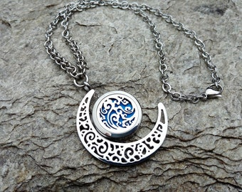 High Quality Stainless Steel Aromatherapy Locket Necklace with Cloudy Sky , Aromatherapy Necklace, Essential Oil Diffuser Locket