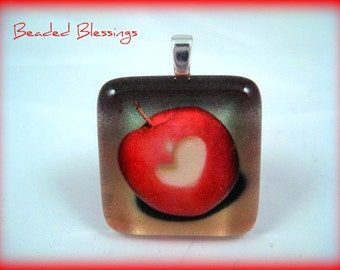 Forbidden Fruit Glass Tile Pendant