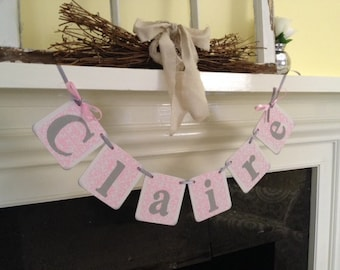 BABY Shower Decorations Baby Girl NAME Banner Or Baby Boy - Child's Name Banner Baby Shower Banner Nursery Decor Photo Prop Custom Colors
