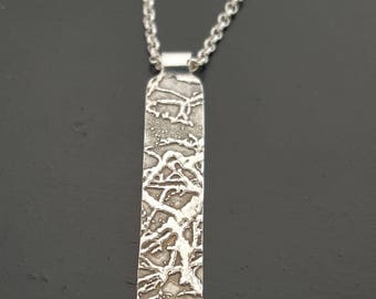 Rectangle Tree Necklace