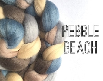 Merino Wool Tops / Roving - 125g / 4oz - Pebble Beach - felting, needle felting, spinning