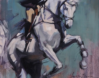 Gray Jumper Bucking Oil Painting