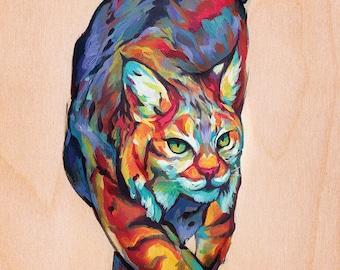 D'impression ou de carte de: Colorcat le lynx roux