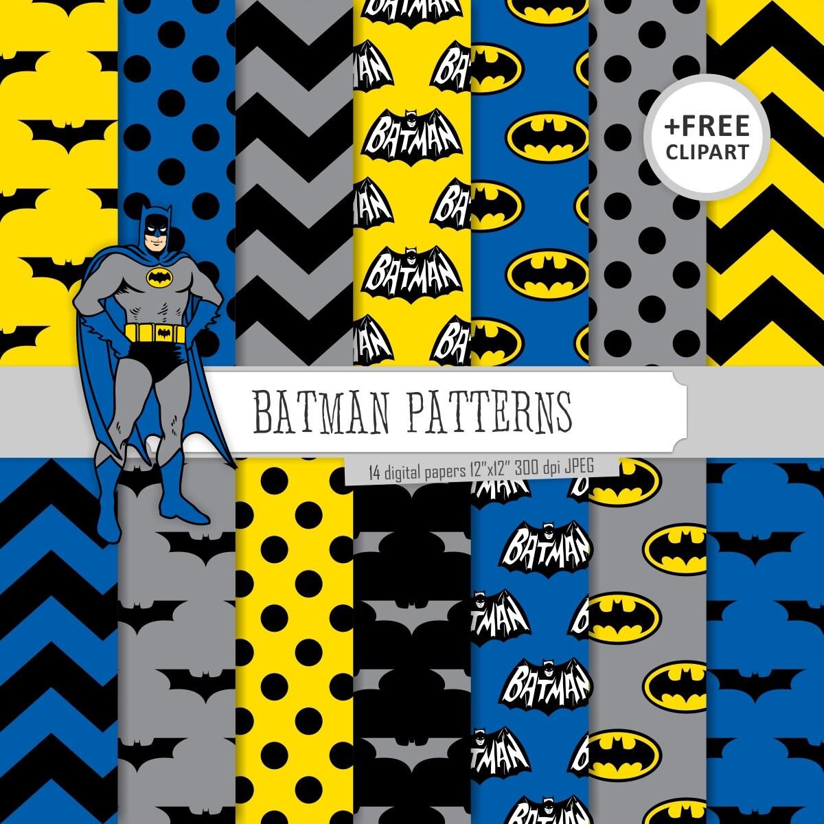 Kaufen Sie 2 bekommen 1 frei Digitale Papier Batman Muster