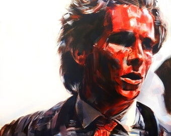 Patrick Bateman #2 from American Psycho (2000), Acrylic Painting 24 x 24in
