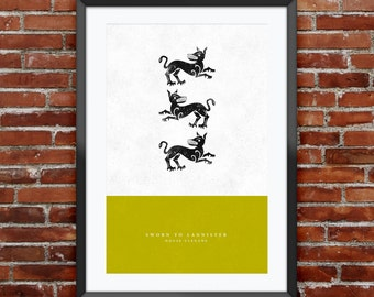 """Game of Thrones - House Clegane print 11X17"""""""