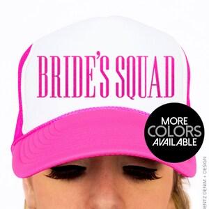 Bride's Squad Hat - Squad Bridal Collection - Snapback Trucker Hat