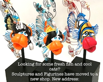 For Polymer Clay Sculptures head to my new shop at PolymerFishAndMore