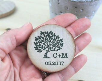 wedding Rustic save-the-date wooden save the date magnets rustic wedding ideas Wedding Favor Wood Magnets Custom Save the date