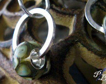 Clearance Sale. Long earrings. Artisan handcrafted boro glass beads lined with sterling. Low Tide...