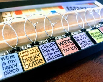 Funny Wine Sayings Custom Wine Glass Charms