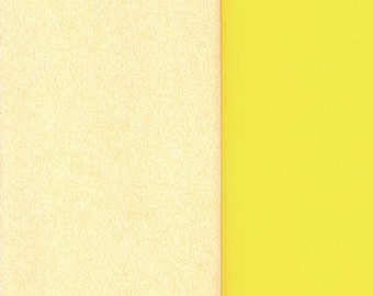Gloria Doublette Double Sided Crepe Paper For Flower Making Made In Germany Vanilla And Pale Yellow #3303