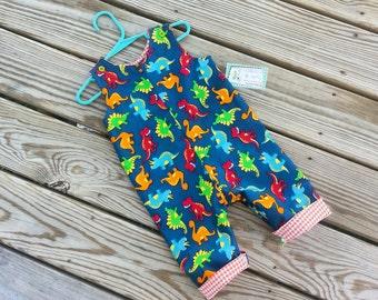Boys Jon Jons - Clothing For Boys -  Dinosaur Outfit - Boys Birthday Outfit - Toddler Boy Longall - Shortall -  Groovy Gurlz