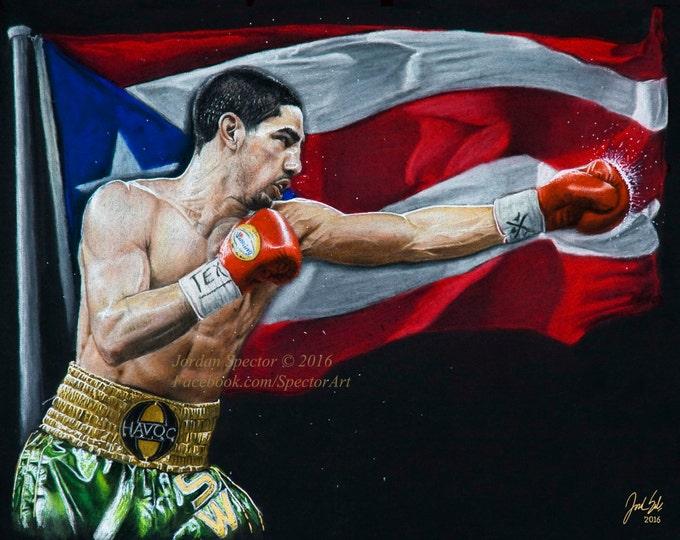 Danny Garcia - Boxing Art Print - Danny Swift - Wall Art- Man Cave Art - Boxing Decor - dorm decor - Gift Idea - Philadelphia Boxer
