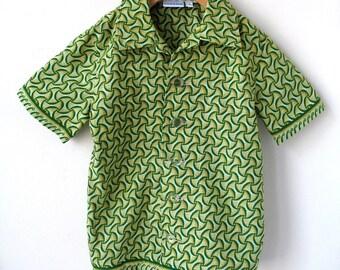 Boy's Size 7 Button Down Shirt - Vintage Style Cotton