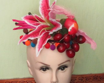 1950s Inspired Carmen Biranda Fascinator Hat