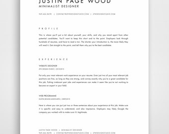 traditional resume layout
