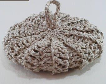 Tawashi hemp 100% natural, 10 cm diameter, Terry zero waste for dishes or washing
