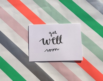 Set of 5 - Get Well Soon Card