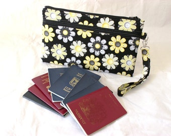 Family Passport Holder - Family Passport Wallet - Travel Wallet - Travel Document Holder - Travel Organizer - Passport Boarding Pass Holder