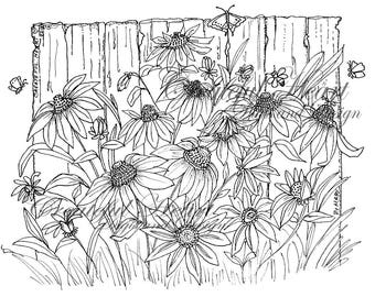 Meadow Flowers  (detailed digital image)