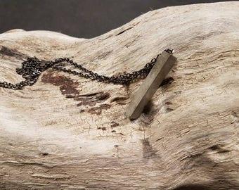 Concrete triangle pendant chain necklace