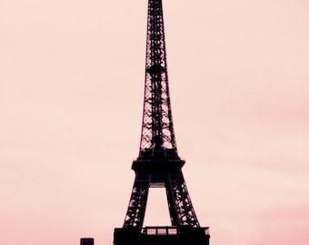 Le silence et la photographie de bruit - Paris, Tour Eiffel Paris photographie Art Print par Leigh Viner