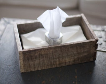 Rustic Reclaimed Wooden Box Tissue Holder