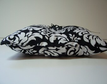 Ring Pillow Black and White Damask - Simply Modern Ringbearer Pillow by Me and Matilda