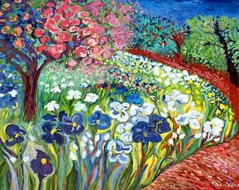 Ceramic Trivet - Monet's Garden Path
