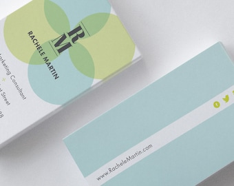 Soft Circles Business Card Design Template