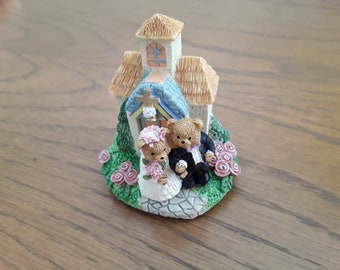 Vintage Wedding cake topper, cake topper, bears wedding, party favours, wedding gift, anniversary gift, wedding figurine,