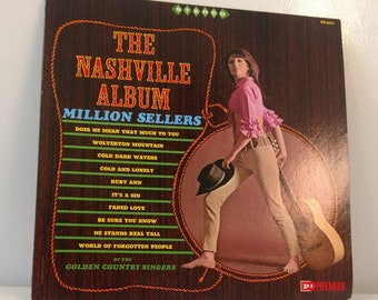 The Golden Country Singers The Nashville Album Vinyl Record Vtg. Good Condition
