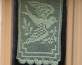 Crochet animals curtains
