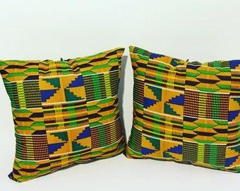 African Print Custom Pillows