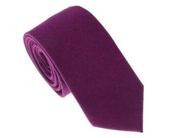 Violet Wool Ties.Mens Wedding Ties.Wedding Gift.Groomsmen Gift.