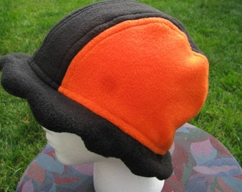 Scalloped Edge Fleece Bucket Hat GIANTS colors Orange and Black