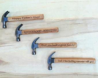 Personalized Engraved Hammer, Custom Wood Hammer, Groom Gift, Dad Gift, Groomsmen Gift, Grandfather Gift