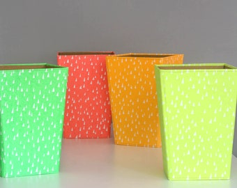 100% recycled fluoro bright waste paper bin
