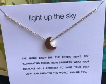 Light Up the Sky Moon necklace