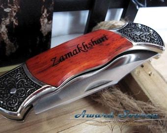 Set of 9 Groomsmen Gift - Personalized Pocket Knife