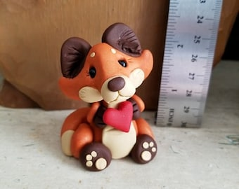 Polymer clay FoX figure by CLAYKEEPSAKES