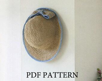 PDF download crochet summer sun hat Pattern